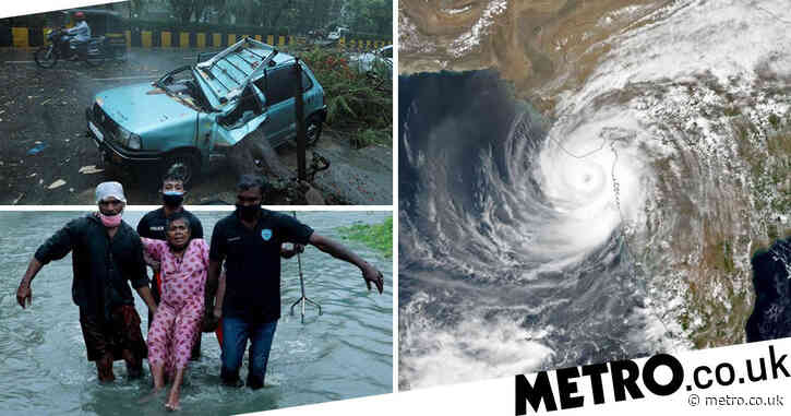 At least 16 dead and 200,000 evacuated as cyclone batters India