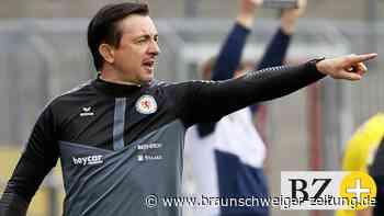 Eintracht Braunschweig geht mit Trainer Meyer ins Saisonfinale