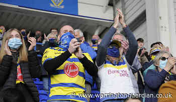 Pictures as Warrington Wolves fans return to stadium