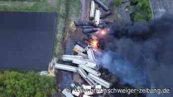 Güterzug mit Chemikalien in den USA entgleist