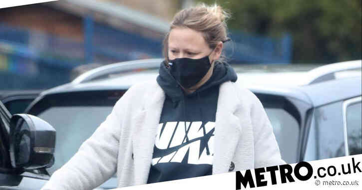 Girls Aloud star Kimberley Walsh runs errands as she approaches end of pregnancy with third child