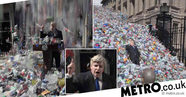 Powerful ad of Downing Street buried in rubbish reveals UK's plastic crisis