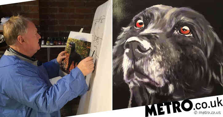 Retired businessman who feared dyslexia would hold him back spends his days painting dogs