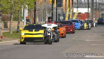 Several dozen muscle cars rally for young cancer patients in Calgary - CTV Toronto