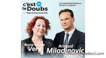 Elections Départementales 2021 : Canton de Bethoncourt, Arnaud Miladinovic et Anne-Laure Very candidats - ToutMontbeliard.com
