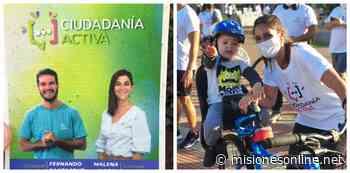 Malena Mazal y Fernando Santacruz: la innovadora campaña en bicicletas, folletos plantables y tecnología - Misiones OnLine