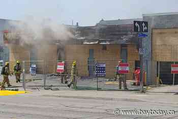 NBPS: One in custody and charged with arson in Monday downtown fire