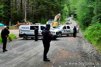 RCMP operations continue at logging blockade on southern Vancouver Island