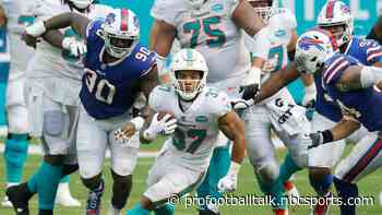 Myles Gaskin paid no attention to whether Dolphins took a running back early in the draft