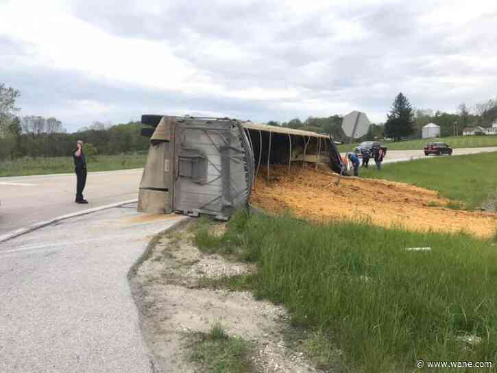 Drivers advised to avoid area of US 24 in Huntington Co. after semi crashes, spills crop