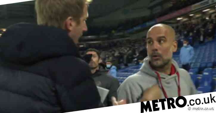 Graham Potter explains heated touchline argument with Pep Guardiola after Brighton beat Manchester City
