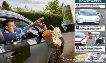 Look out - you're on littercam! A high-tech way to catch culprits throwing rubbish from vehicles