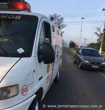 Acidente entre carro e moto deixa uma pessoa ferida em Nova Hartz - Jornal Repercussão