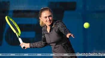 Belarusian Aliaksandra Sasnovich reaches L'Open 35 de Saint-Malo quarterfinal - Belarus News (BelTA)