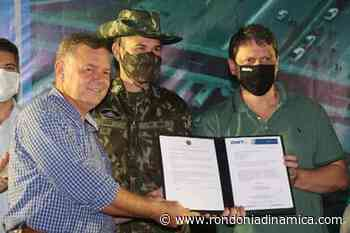 Exército inicia obras na BR 364 em Jaru de acesso a duplicação da ponte; deputado Lucio Mosquini foi o idealizador do projeto - Rondônia Dinâmica