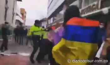 Plantón pacífico en Tunja dejó disturbios y mujeres heridas [VIDEOS] - Diario del Sur