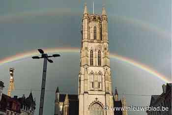Ook gezien? Dubbele regenboog boven Gent zorgt voor fraaie taferelen