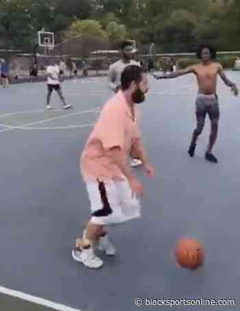 Adam Sandler Spotted Playing Pick Up Basketball in Long Island in a Polo - BlackSportsOnline