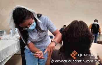 Aplicaron 2145 dosis de vacuna anticovid en San Bartolo Coyotepec - Quadratín Oaxaca