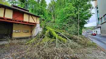 Staus, Sturmschäden und Graffitis: Drei Themen bewegten am Montag in Kirn - Rhein-Zeitung