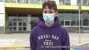 'It broke me': Men arrested after rainbow crosswalk defaced at Colwood school - CTV News VI