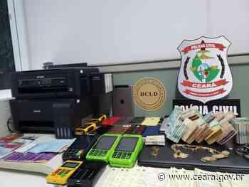 7 de maio de 2021 Polícia Civil deflagra 2ª fase de operação contra estelionatários em Itapipoca - Ceará