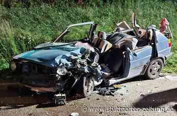 Drei Verletzten in Leingarten - Nach Zusammenstoß: 18-Jähriger lebensgefährlich verletzt - Stuttgarter Zeitung
