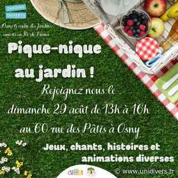 Pique-nique au Jardin Jardin pédagogique AFPM dimanche 29 août 2021 - Unidivers