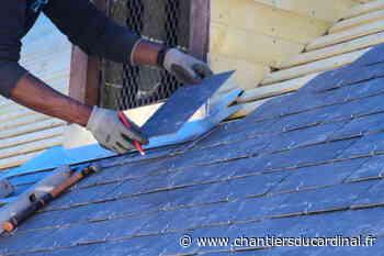 Alfortville : des ardoises neuves sur le toit de Notre-Dame alfortville ardoises toit notre dame - - Les Chantiers du Cardinal