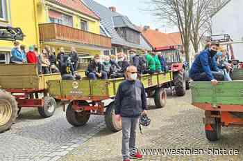 Jugendliche sammeln in Stemwede-Dielingen Müll ein: Auch Unappetitliches liegt in der Landschaft - Westfalen-Blatt