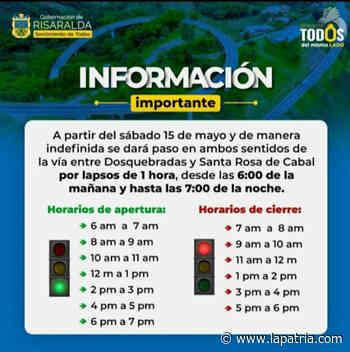 Cierres temporales de la vía Dosquebradas-Santa Rosa por bloqueos en La Romelia (Risaralda) - La Patria.com
