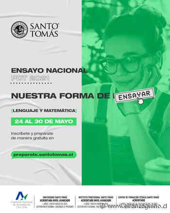 Santo Tomás organizará Ensayo Nacional PDT 2021 para apoyar a estudiantes de enseñanza media - El Rancagüino