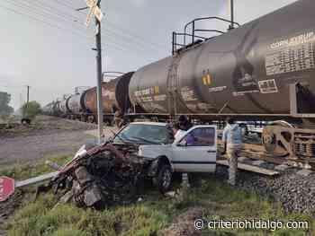 Automovilista resulta lesionado por impacto con tren, en Tlaxcoapan - Criterio Hidalgo