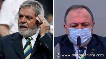 Pazuello com gravata de Lula - O Antagonista
