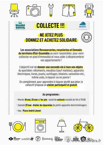 Collectes Anti-Gaspi romainville – Place André Leonnet mardi 18 mai 2021 - Unidivers