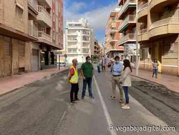 Último tramo de las obras de reasfaltado de la Avenida Purísima en Torrevieja - vegabajadigital.com