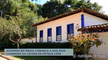 Achamos em Minas: rua de Mateus Leme (MG) é rica em beleza - HORA 7