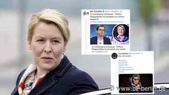 Hohn und Spott für Franziska Giffey im Netz - B.Z. Berlin