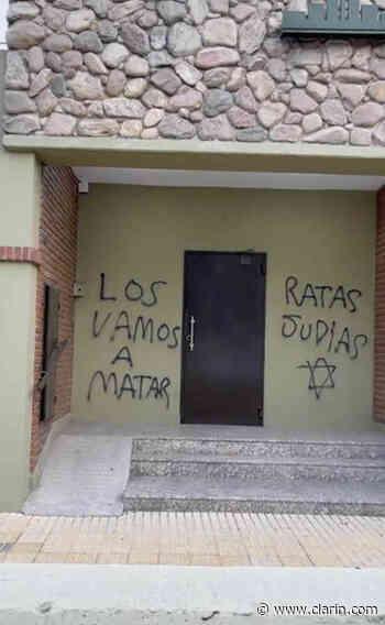 Video: pintada antisemita contra la DAIA de Bahía Blanca - Clarín.com