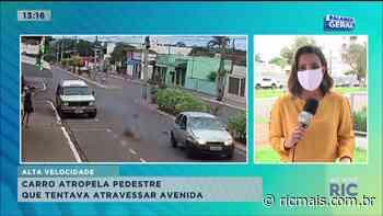 Carro atropela pedestre que tentava atravessar avenida em Astorga - RIC - RIC Mais