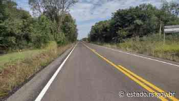 Ligação entre Cerro Largo e Rolador recebe serviços de pavimentação - Governo do Estado do RS