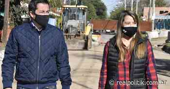Nardini visitó obras de pavimento en Grand Bourg - Agencia Realpolitik