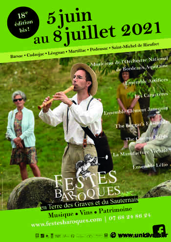Concert Festes Baroques Cadaujac mardi 6 juillet 2021 - Unidivers