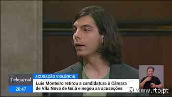 Deputado do BE retira candidatura à Câmara de Vila Nova de Gaia e nega acusações de violência doméstica - RTP