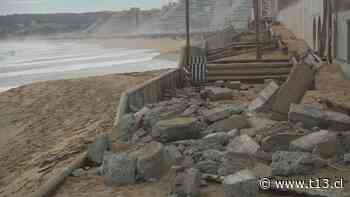 [VIDEO] Muro de contención se derrumbó tras marejadas en Algarrobo - Teletrece
