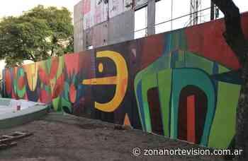 Nuevo mural en la Plaza de la Memoria de Munro - Zona Norte Visión