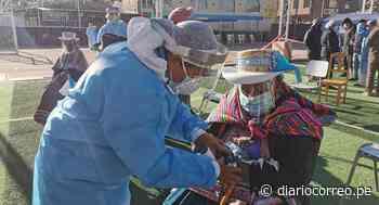 Vacunan a pobladores de Majes y Chivay en Caylloma contra el coronavirus - Diario Correo