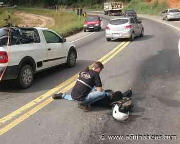Motociclista fica ferido em colisão com automóvel na 262 em Domingos Martins - Aqui Notícias - www.aquinoticias.com