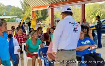 Brinda pueblo de Peñón Blanco apoyo a David Ramos - El Sol de Durango