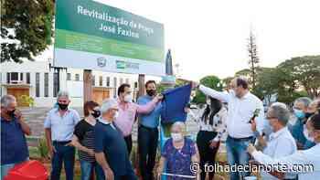 Rodrigo Pezão inaugura a revitalização da Praça José Faxina em Tapejara - Folha De Cianorte